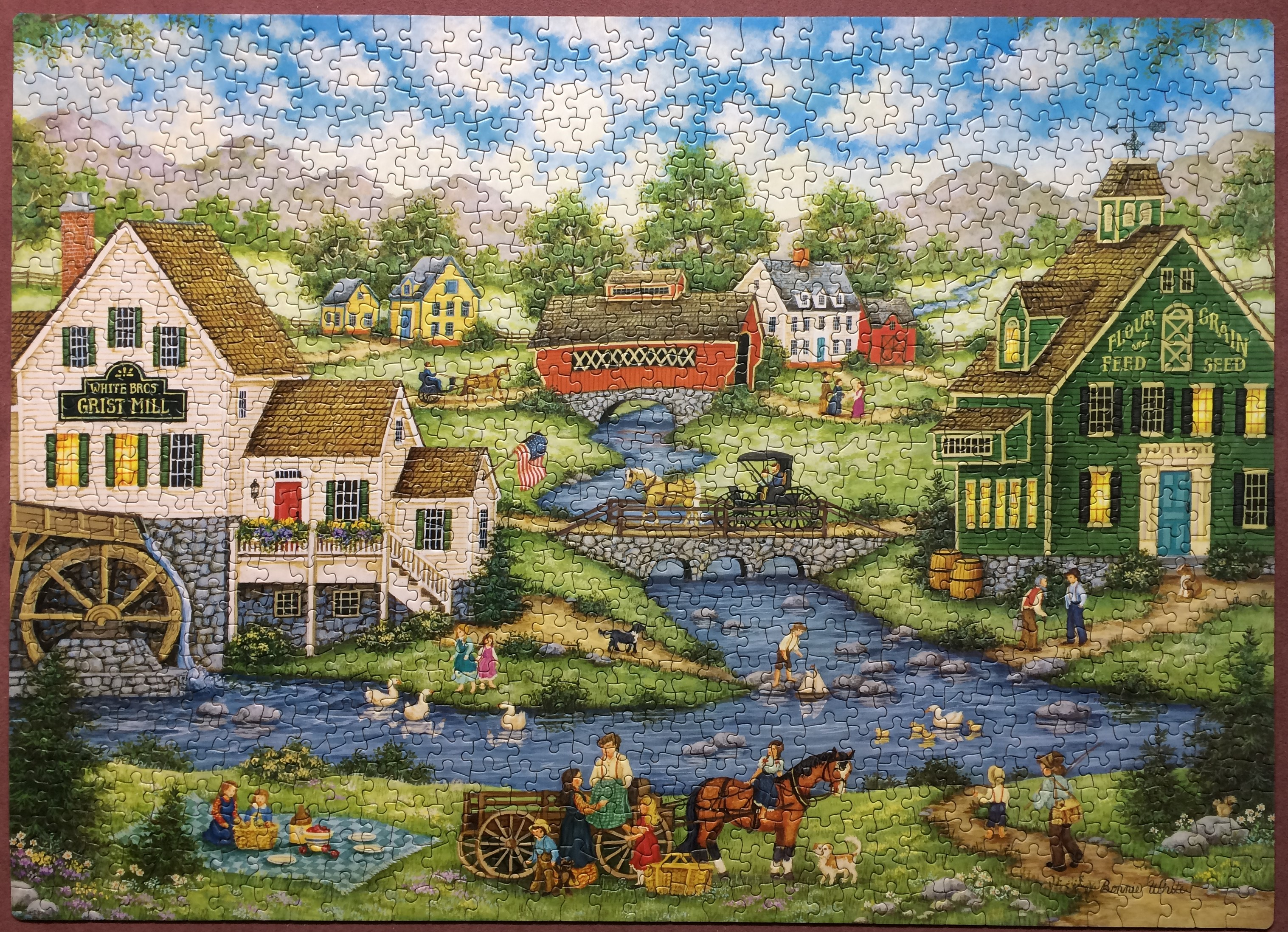 Toys Games Bonnie White Time For The Picnic 500 Piece
