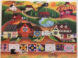 Sunrise Colorful Country Quilt