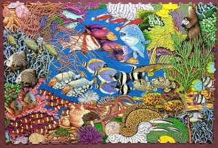 Coral Reef by Lambert and Samborski - Great American Puzzle Factory - 294 pieces