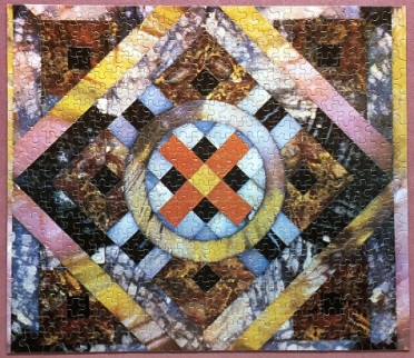 Petrified Wood Mosaic - Fitting Reminder (American Greetings) - 500 pieces